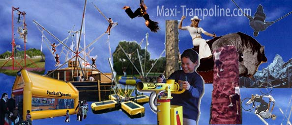 BUNGEE TRAMPOLINE - bungy trampoline 4in1 - SALTO Trampolino - Mobile bungee trampolines ELASTIC, CLIMBING walls, COMBO, Funball Shootair compressed air cannons ball, Playgrounds, Bobsleigh Roller Coaster, Rodeo mechanic bull and horse, Aero spaces bikes, bungy jumping, Sling Shot, gyroscope, extreme Fun rides, foam ball game, inflatable thing, ATTRACTIONS and AMUSEMENT Parks CONSULTING… and more products and services